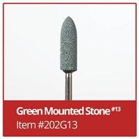 #13 Green Mounted Stones - Box of 100