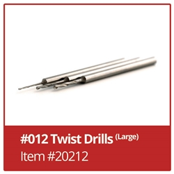 Twist Drills #012 - Pack of 6